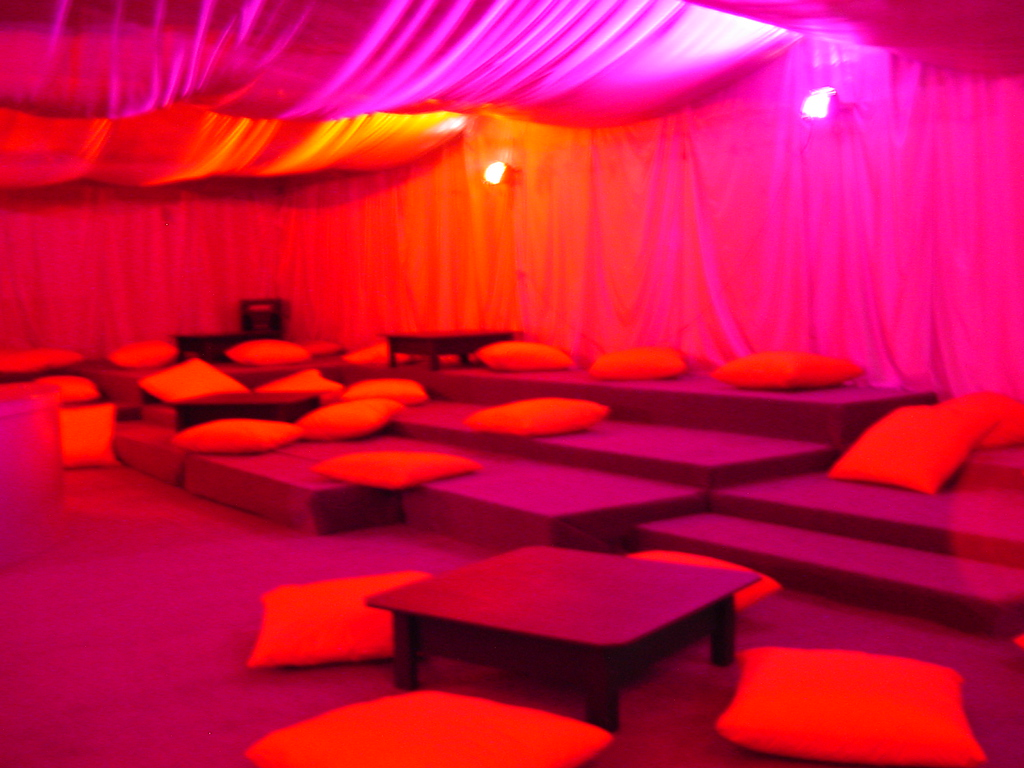 Ambient Chill Out areas catered for too